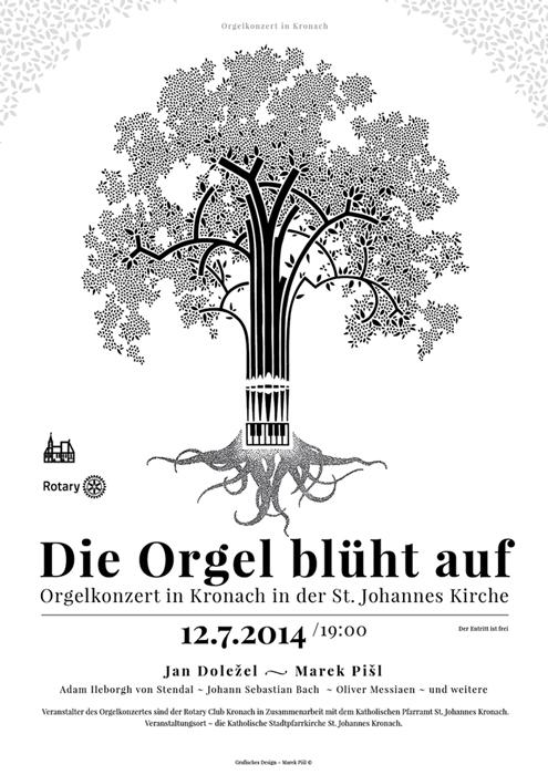 Plakat Orgelkonzert Kronach