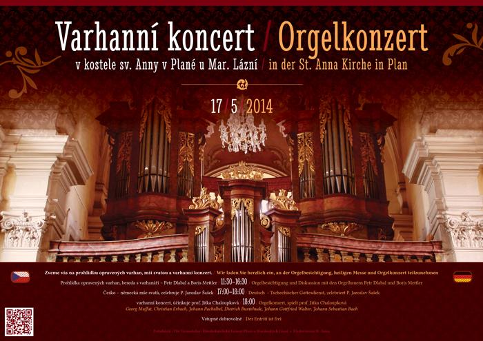 plakát varhanní koncert Planá